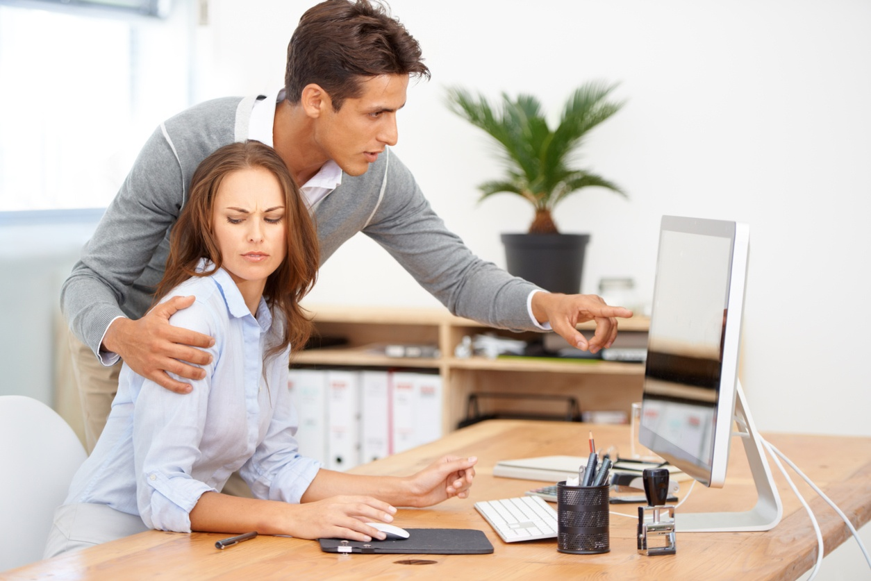 sexual harassment in the work place Sexual harassment is a form of discrimination that violates title vii of the civil rights act of 1964 sexual harassment occurs when one employee makes continued, unwelcome sexual advances, requests for sexual favors, and other verbal or physical conduct of a sexual nature to another employee against his or her wishes.