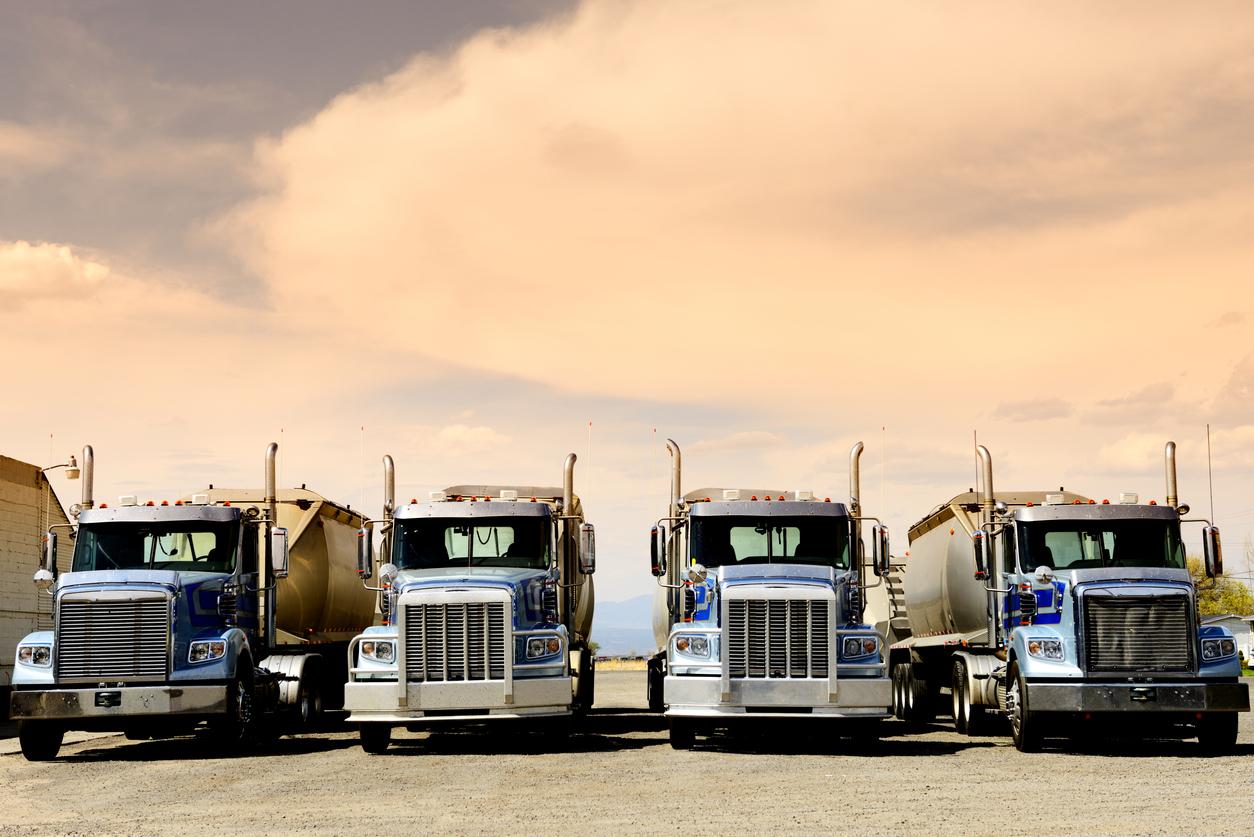 Trucks, Route 66, California, USA