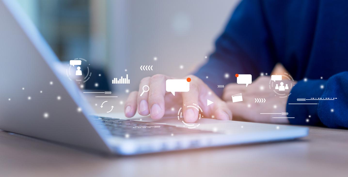 social media facebook linkedin job application